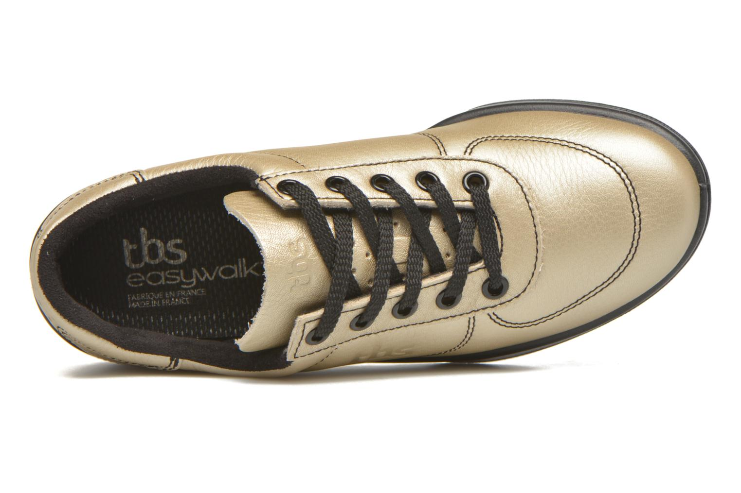 Trainers TBS Easy Walk Brandy Bronze and Gold view from the left