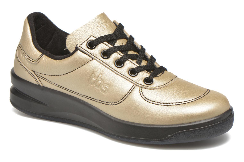 Sneakers TBS Easy Walk Brandy Bronze och Guld detaljerad bild på paret