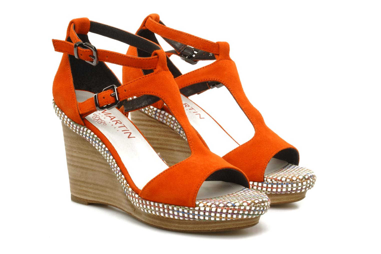 Sandals JB MARTIN Nabou Orange 3/4 view