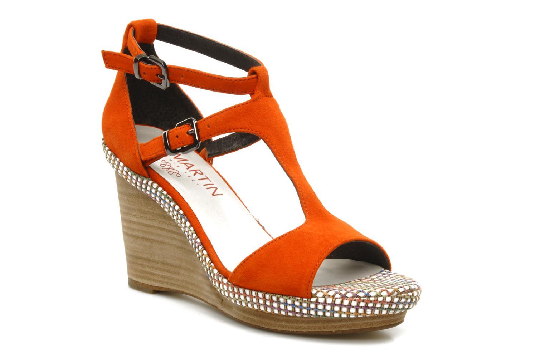 Sandals JB MARTIN Nabou Orange detailed view/ Pair view