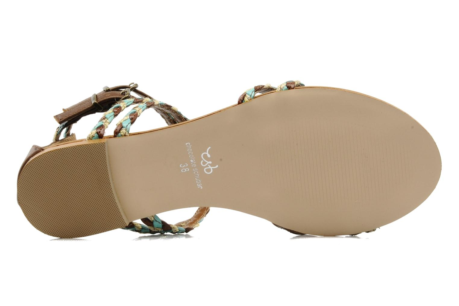 Sandals Chocolate Schubar Aja Brown view from above