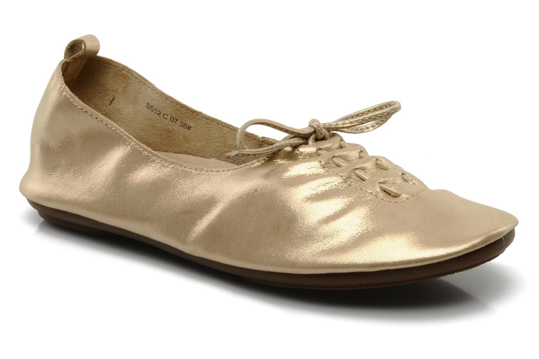 Ballet pumps Chocolate Schubar Daniel Bronze and Gold detailed view/ Pair view