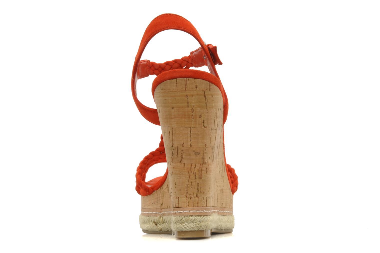 Sandales et nu-pieds Guess Reign Orange vue droite