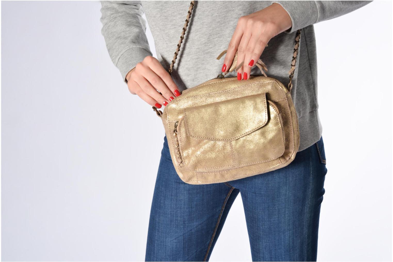 Handtaschen Pieces Naina Leather Crossover braun ansicht von oben
