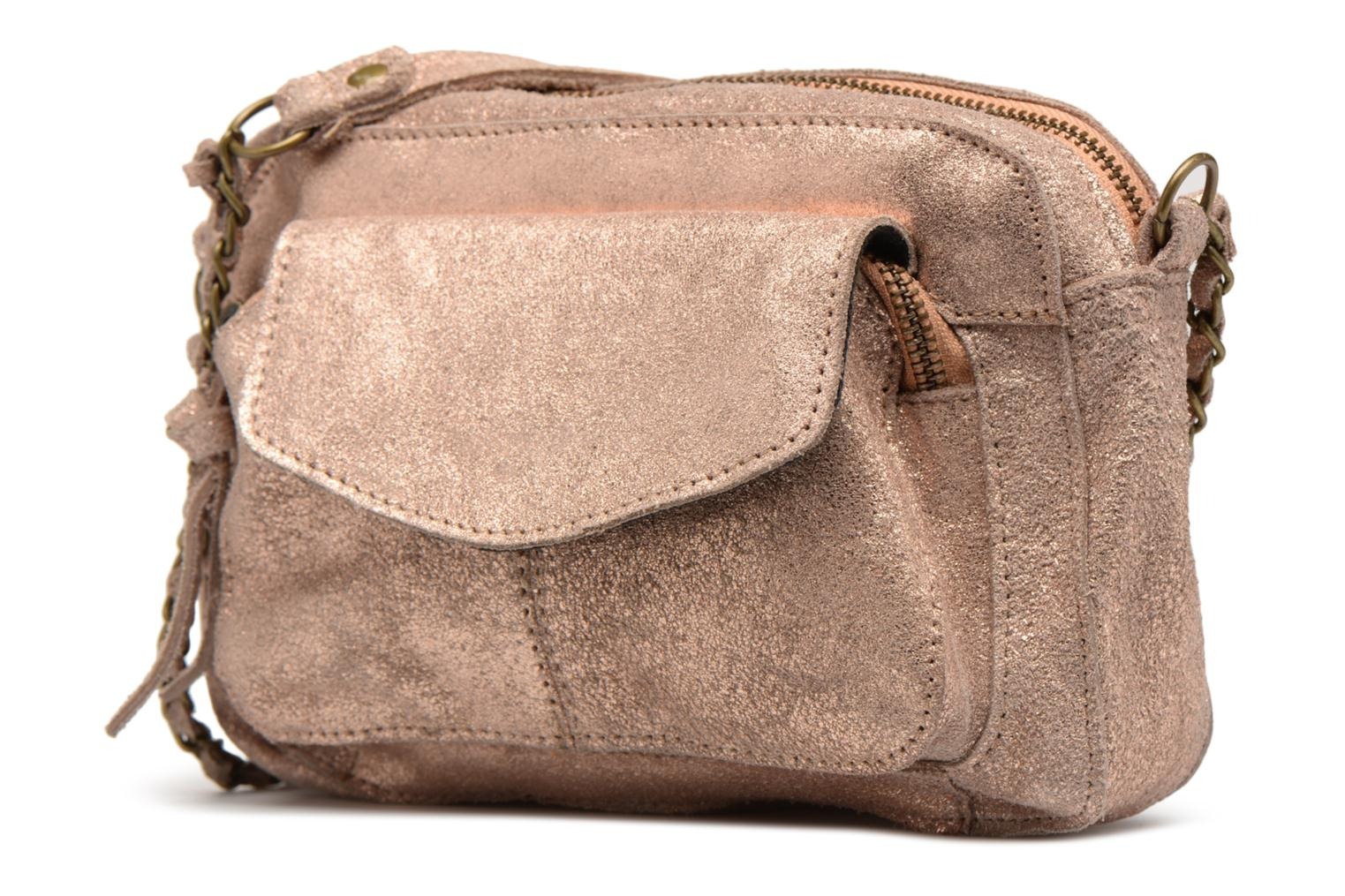 Bolsos de mano Pieces Naina Leather Crossover Rosa vista del modelo