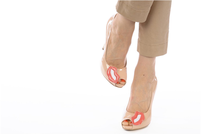High heels Paul & Betty PrettyLips Beige view from underneath / model view