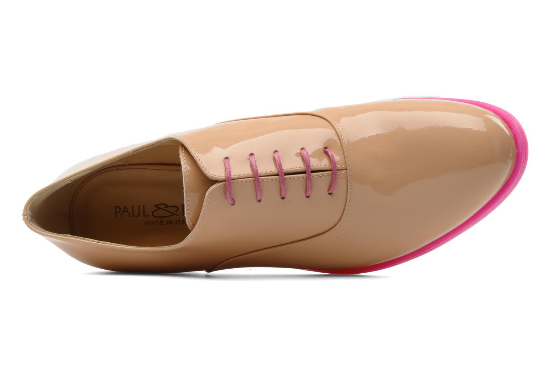 Chaussures à lacets Paul & Betty Rozy Beige vue gauche