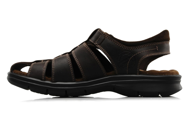 Sandales et nu-pieds Panama Jack Sherpa Marron vue face