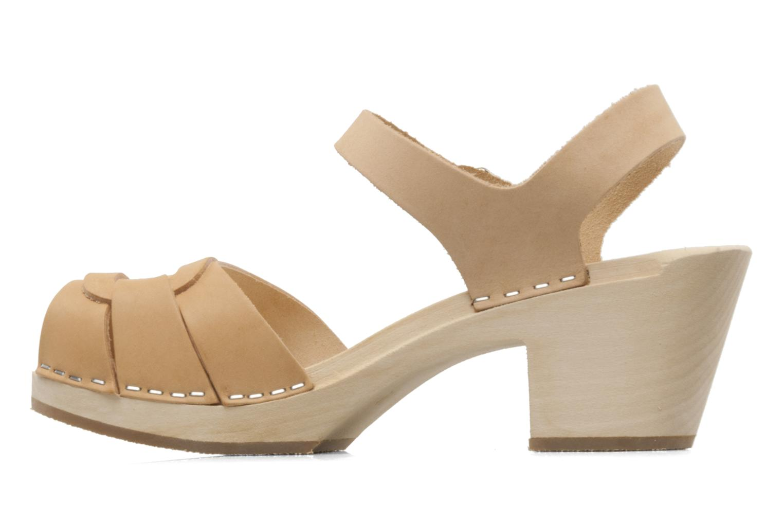 Sandales et nu-pieds Swedish Hasbeens Peep Toe High Colours Beige vue face