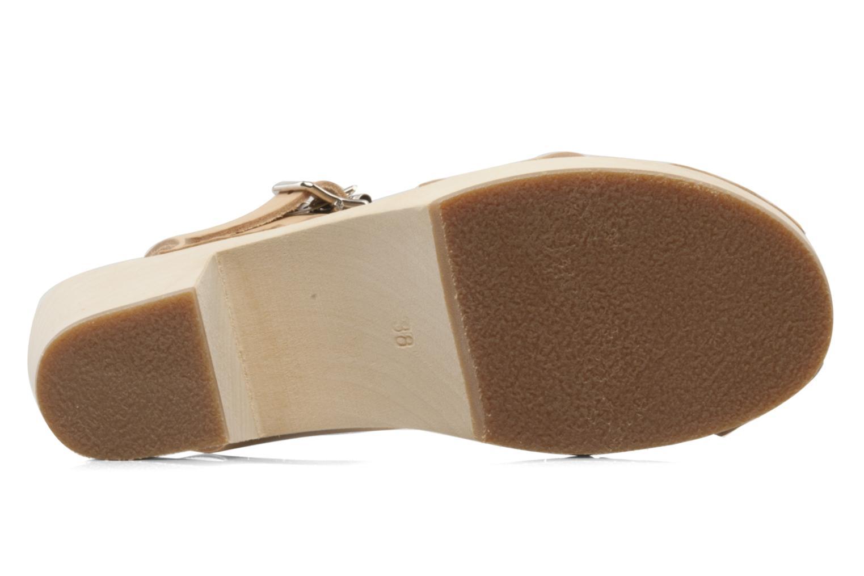 Sandales et nu-pieds Swedish Hasbeens Peep Toe High Colours Beige vue haut