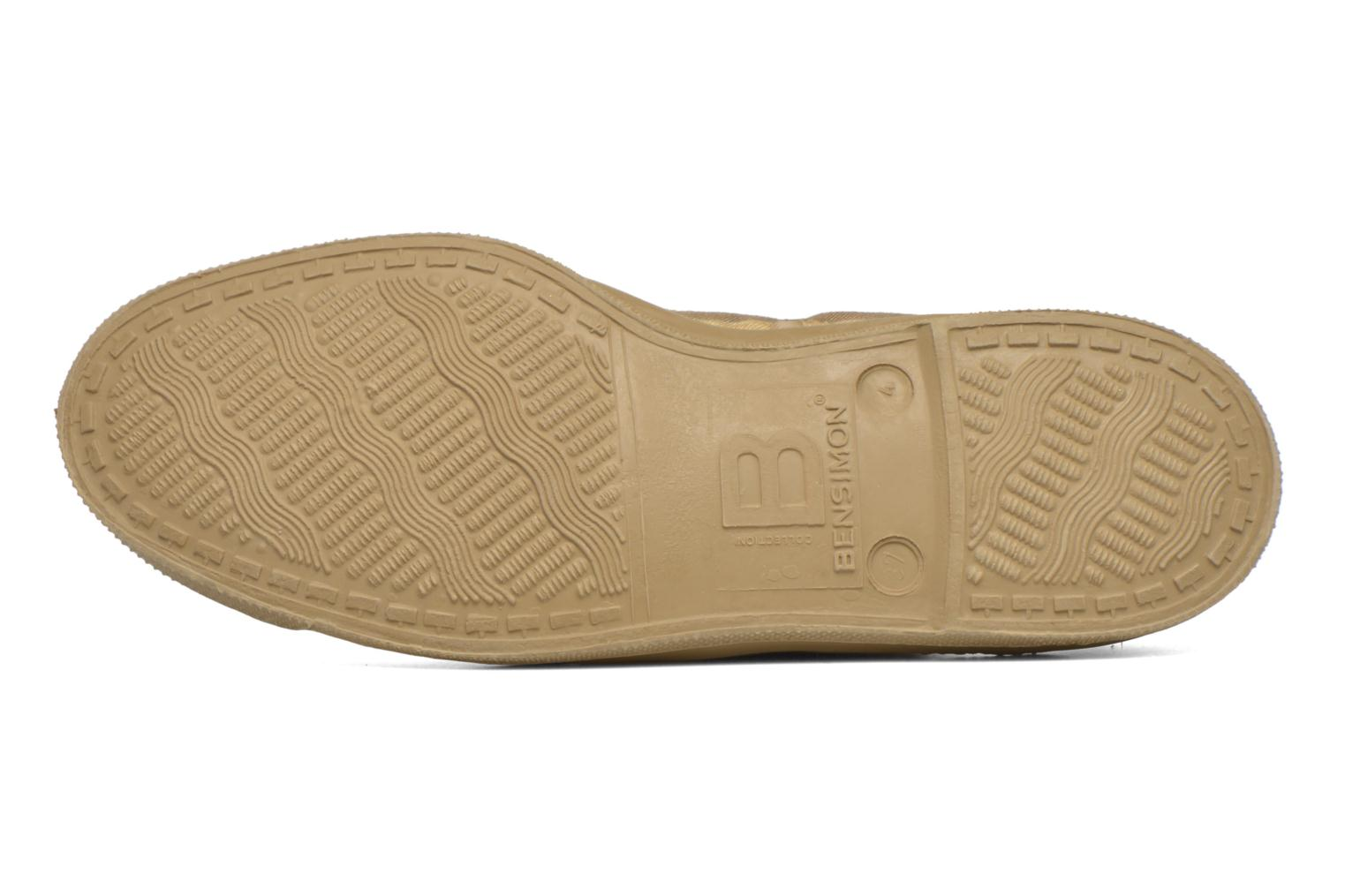 Trainers Bensimon Tennis Colorsole Beige view from above