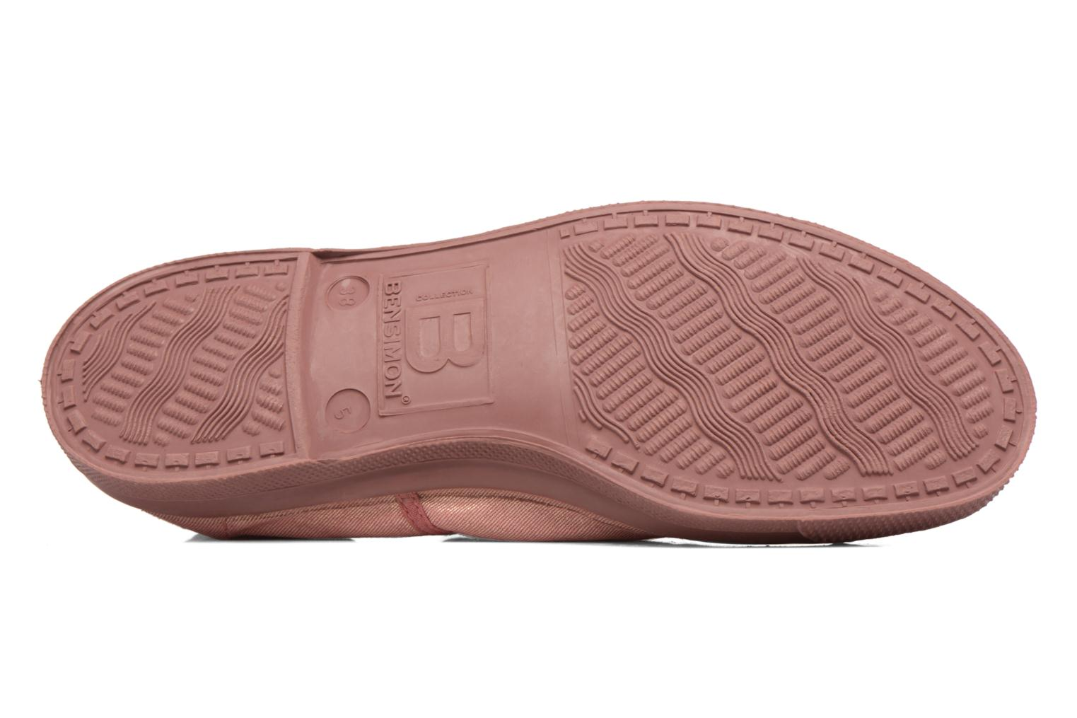 Trainers Bensimon Tennis Colorsole Pink view from above