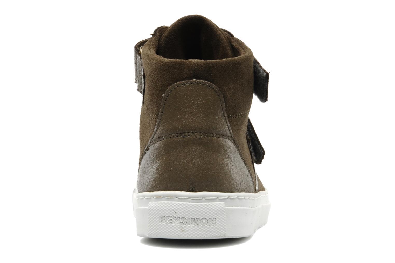 Sneakers Bensimon Sneakys Suède Grigio immagine destra