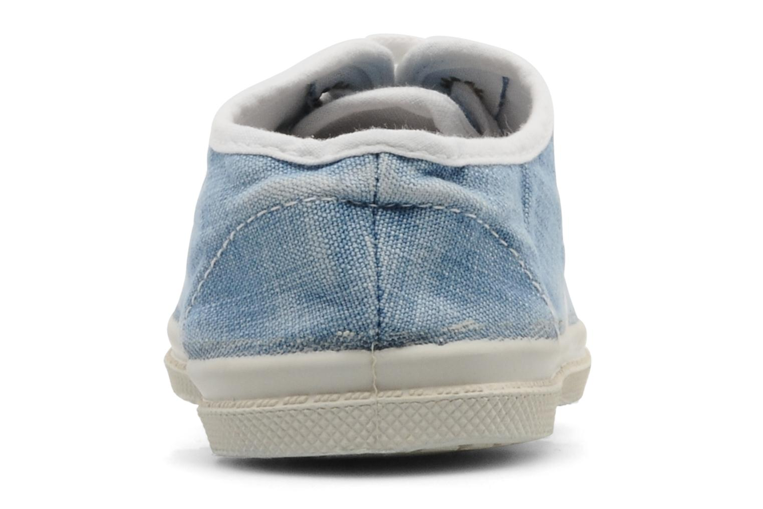 Sneakers Bensimon Tennis Washed E Blauw rechts