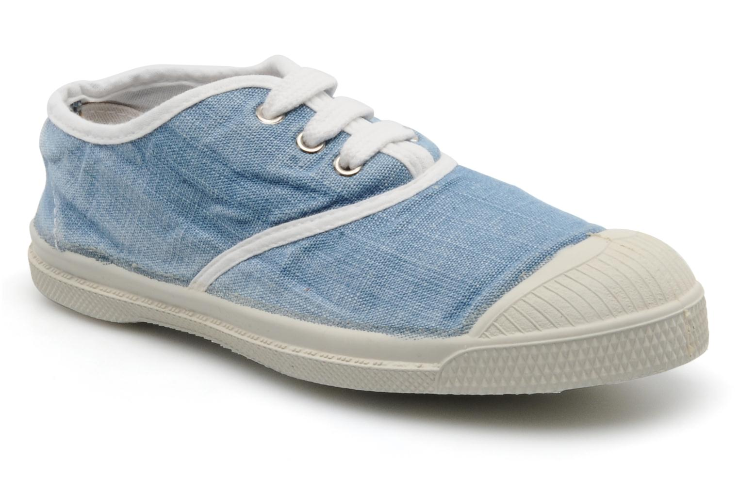 Sneakers Bensimon Tennis Washed E Blauw detail