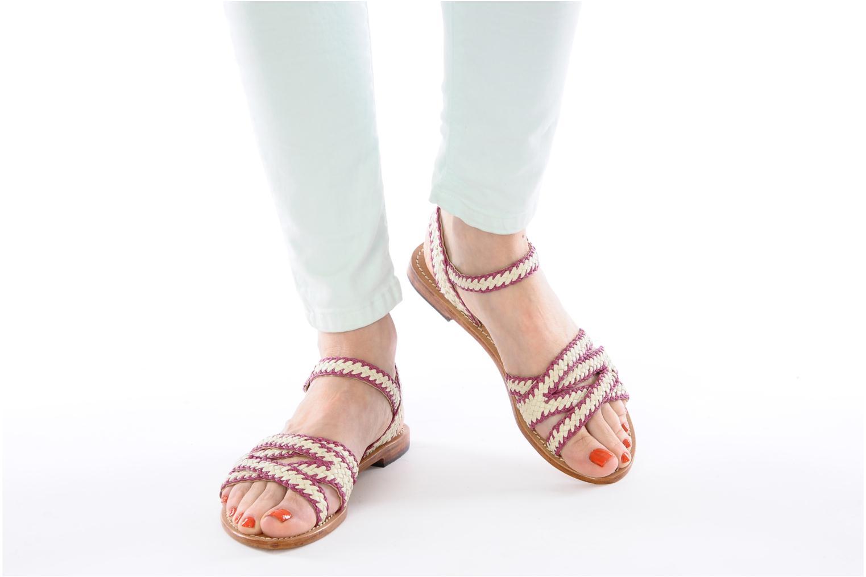 Sandales et nu-pieds Mellow Yellow Langlette Violet vue bas / vue portée sac
