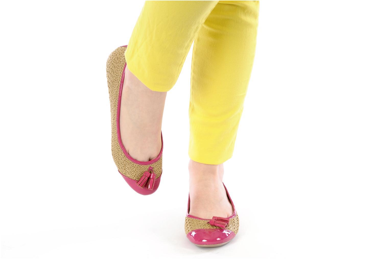 Ballerines Mellow Yellow Lapoin Violet vue bas / vue portée sac