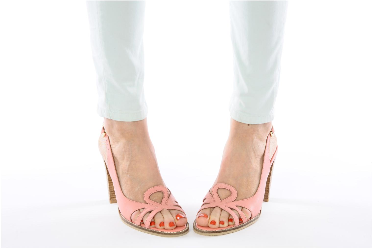 Sandals Mellow Yellow Lastou Pink view from underneath / model view