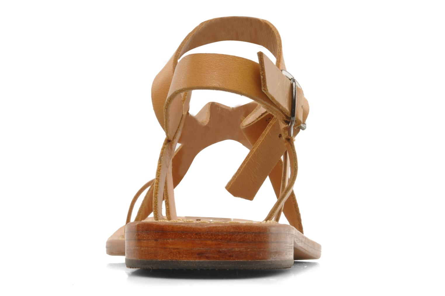 Sandals Mellow Yellow Lemporio Brown view from the right