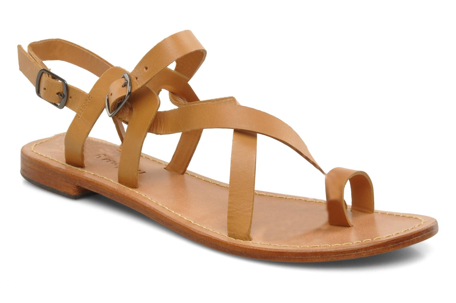 Sandals Mellow Yellow Lemporio Brown detailed view/ Pair view