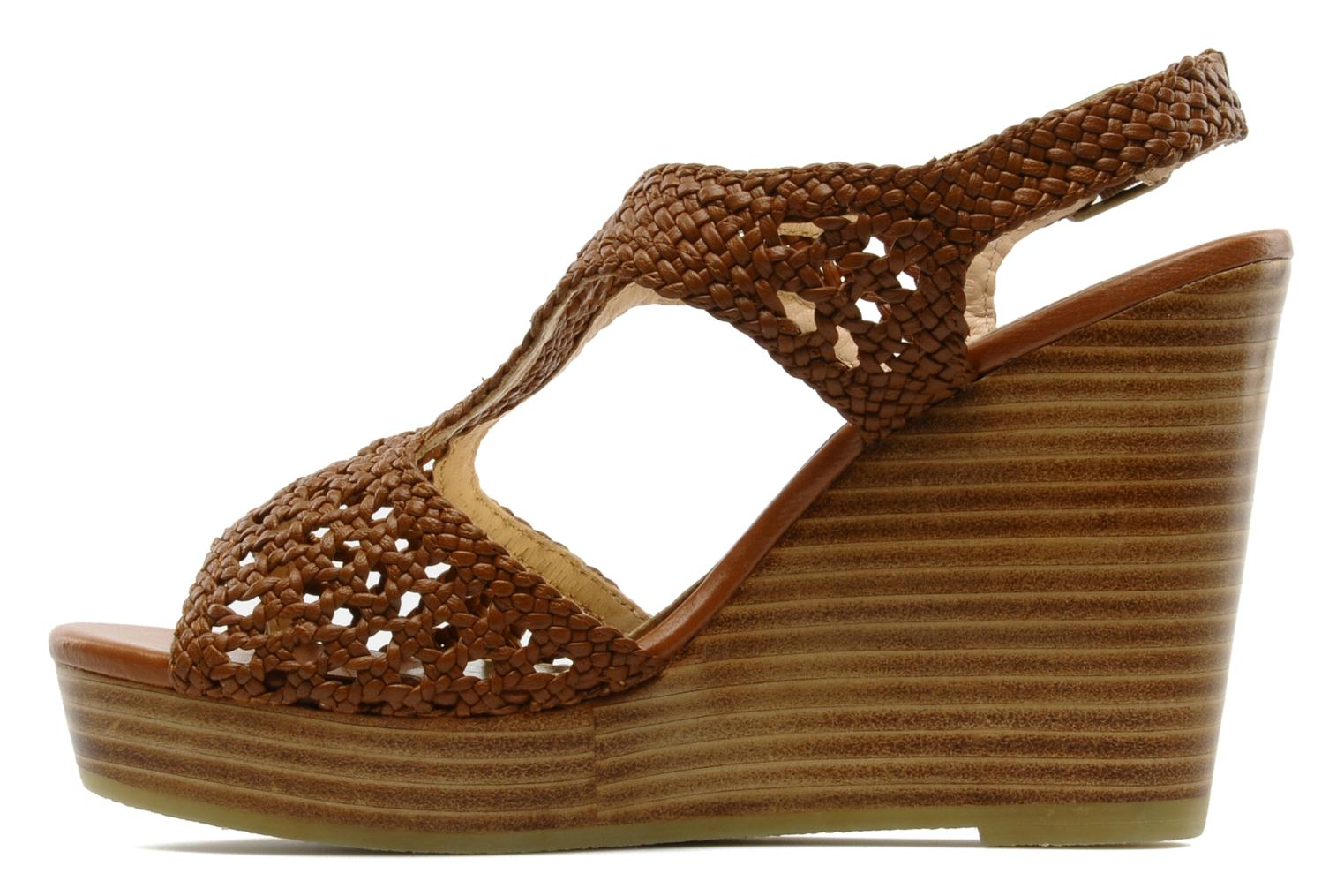 Sandals Mellow Yellow Lexic Brown front view