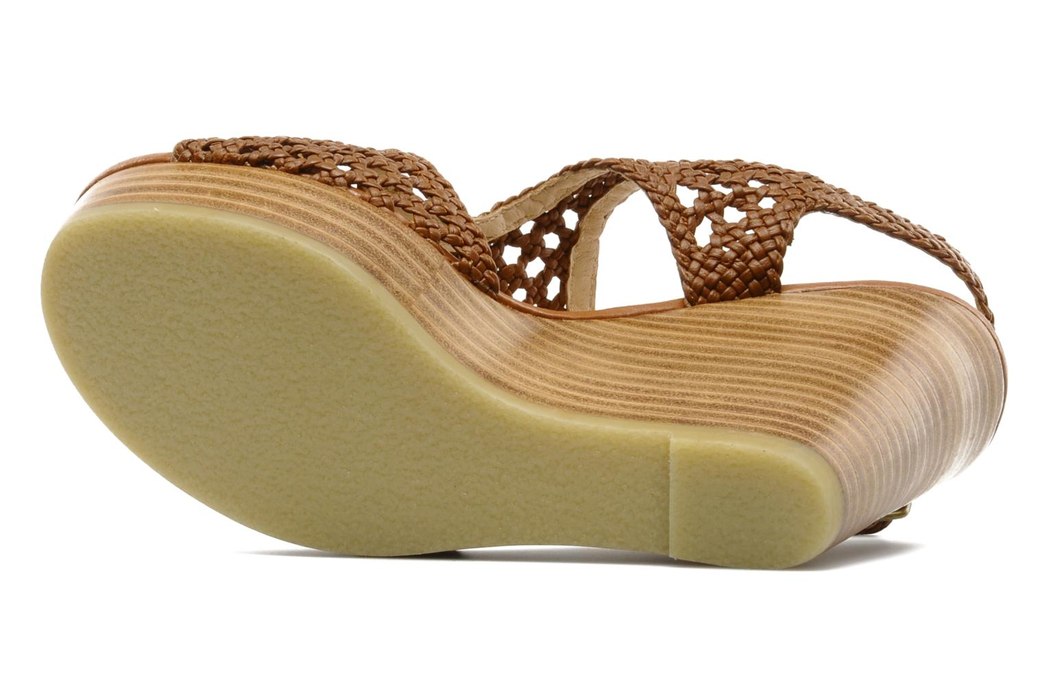 Sandals Mellow Yellow Lexic Brown view from above