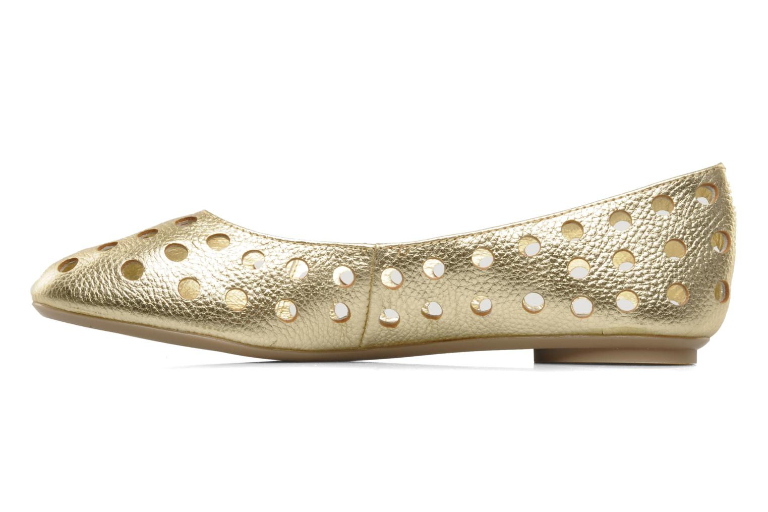 Ballet pumps Mellow Yellow Litten Bronze and Gold front view