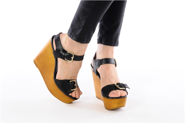 Sandales et nu-pieds Mellow Yellow Lupper Noir vue bas / vue portée sac