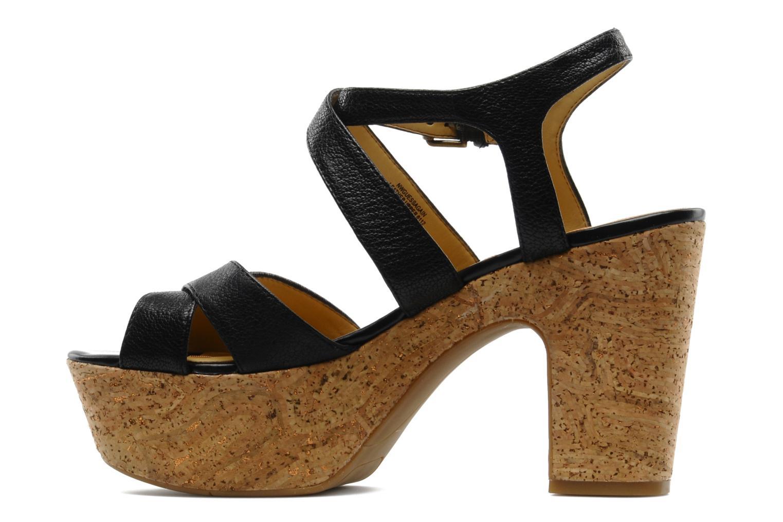Sandales et nu-pieds Nine West Guessagain Noir vue face