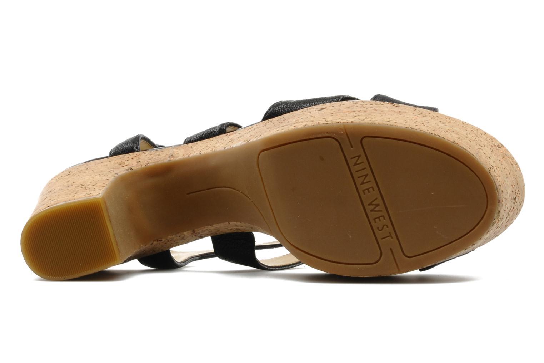 Sandales et nu-pieds Nine West Guessagain Noir vue haut