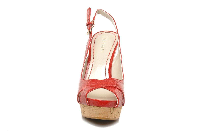 Sandales et nu-pieds Nine West Laffnplay 3 Rouge vue portées chaussures
