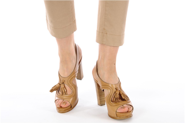 Sandales et nu-pieds Sartore Sariel Beige vue bas / vue portée sac