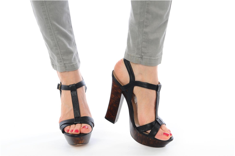 Sandales et nu-pieds Pura Lopez Storia Noir vue bas / vue portée sac
