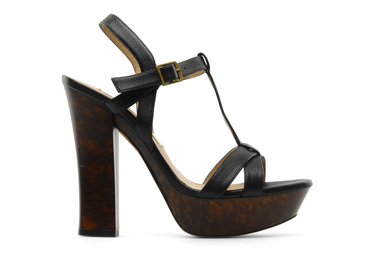 Sandales et nu-pieds Pura Lopez Storia Noir vue derrière
