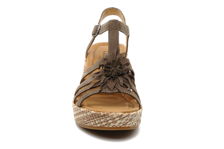 Sandales et nu-pieds Gabor Diana Marron vue portées chaussures