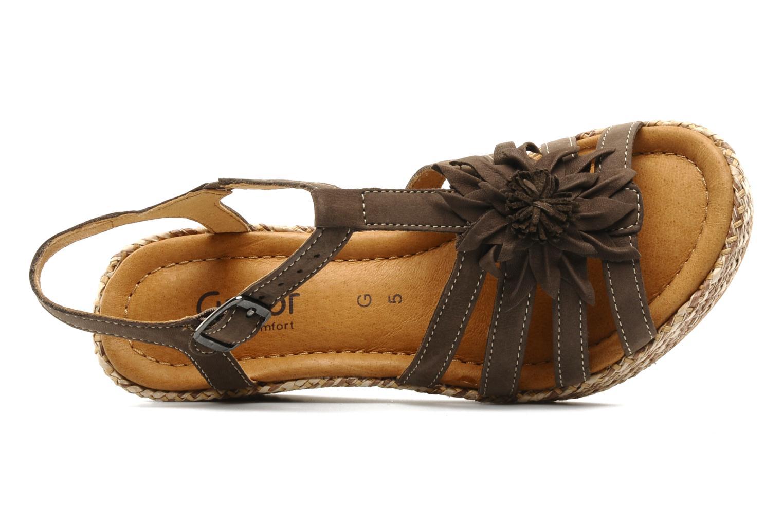 Sandales et nu-pieds Gabor Diana Marron vue gauche