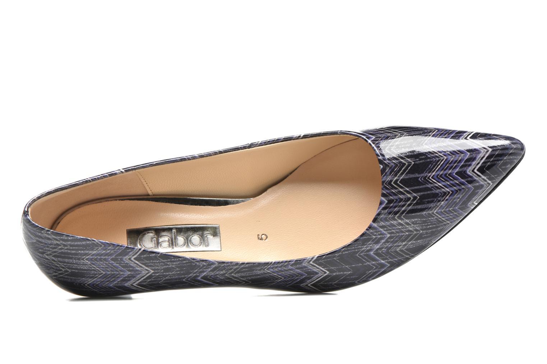 Zapatos de tacón Gabor Emilie Azul vista lateral izquierda
