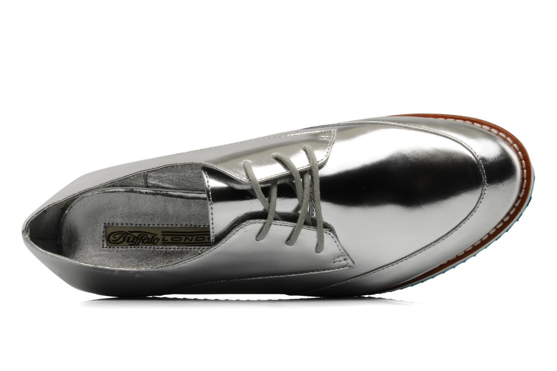 Zapatos con cordones Buffalo Disco Plateado vista lateral izquierda