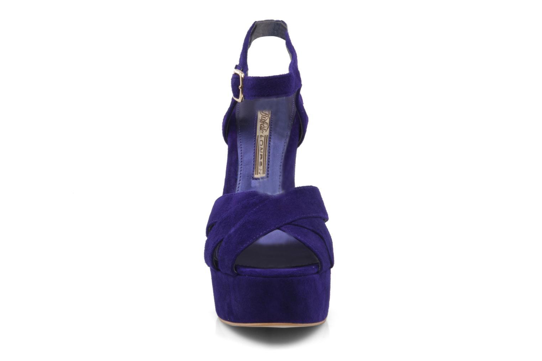 Sandalen Buffalo Lizy lila schuhe getragen