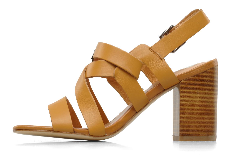 Sandalen Mellow Yellow Lamante braun ansicht von vorne