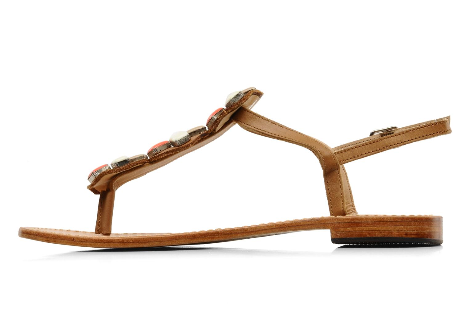 Sandals Mellow Yellow Lapi Brown front view
