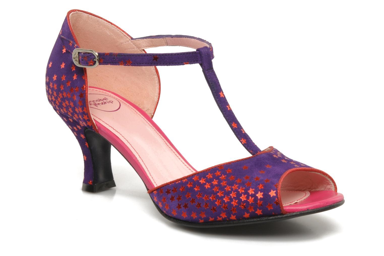 Sandales et nu-pieds Annabel Winship Hambug Violet vue détail/paire