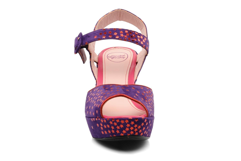 Sandals Annabel Winship Jodie Purple model view