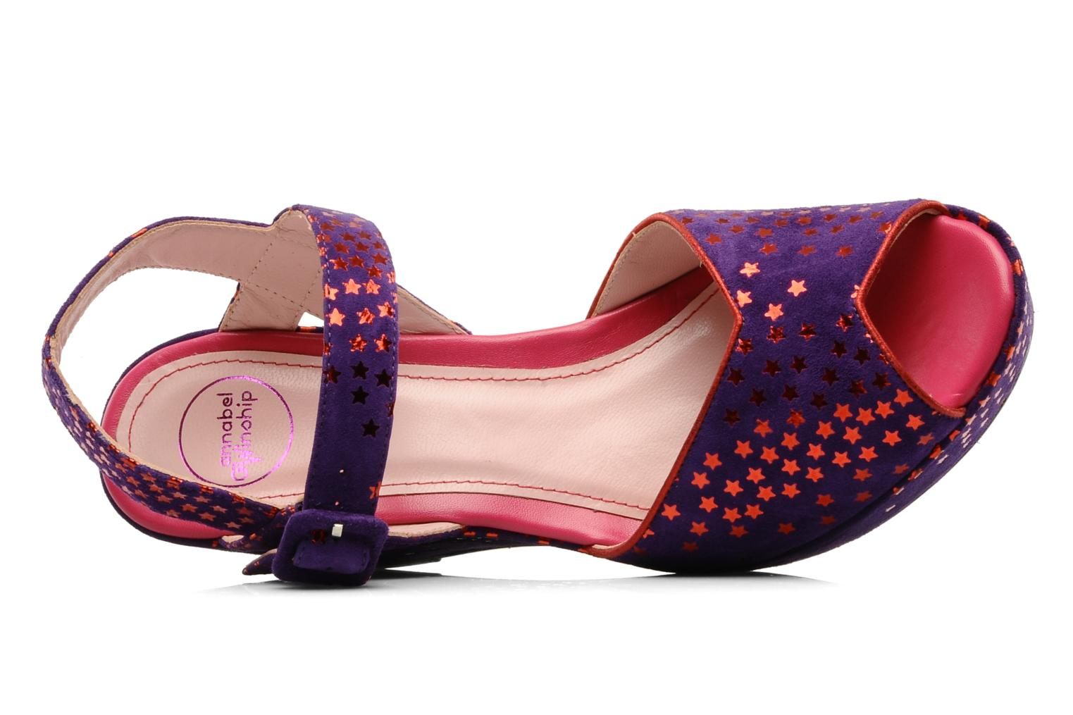 Sandals Annabel Winship Jodie Purple view from the left