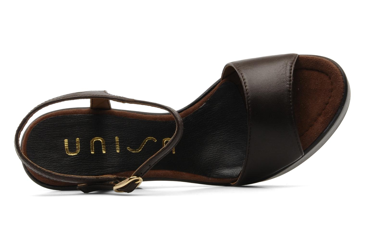 Sandals Unisa Oire Brown view from the left