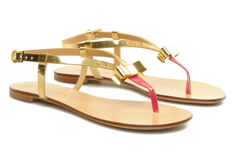 Sandales et nu-pieds Vicini Vada Or et bronze vue 3/4