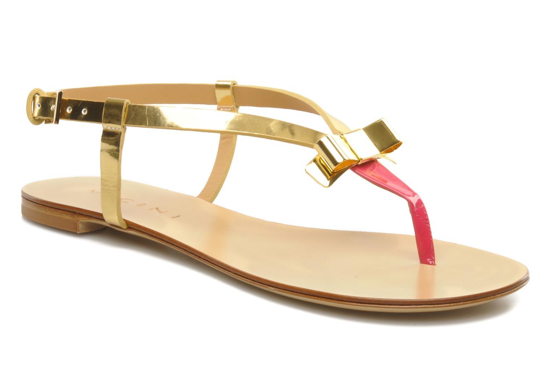 Sandales et nu-pieds Vicini Vada Or et bronze vue détail/paire