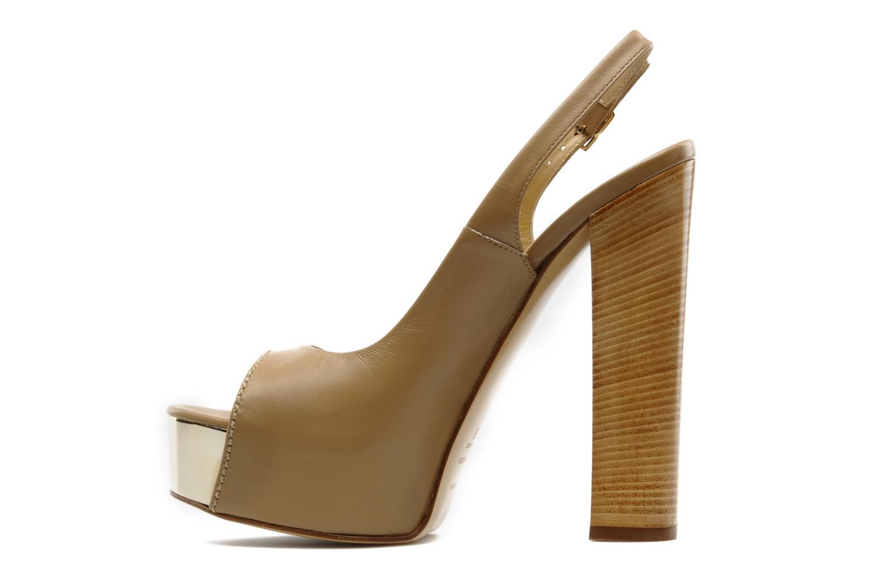 Sandales et nu-pieds Vicini Vinciane Marron vue face