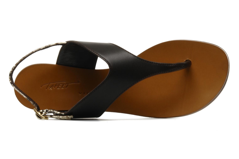 Sandales et nu-pieds Tapeet Tefle Marron vue gauche
