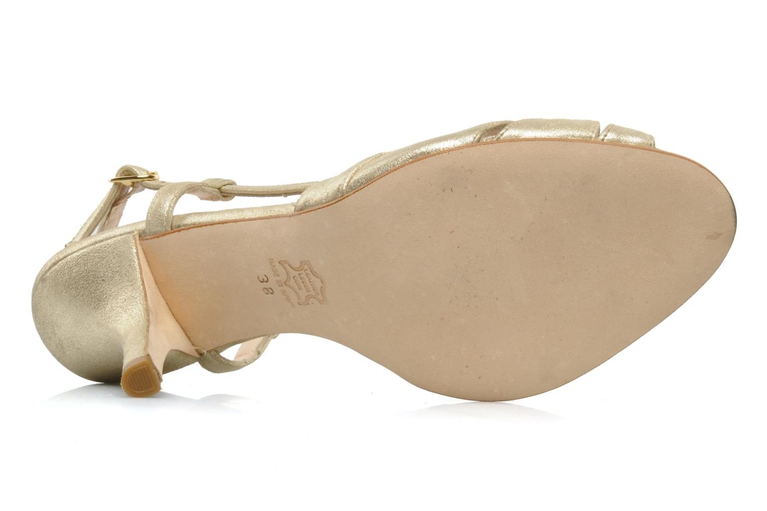 Sandals Georgia Rose Maraki Bronze and Gold view from above